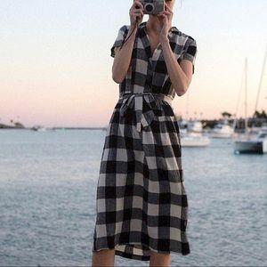 Urban Outfitters Natalie Linen Belted Shirtdress M
